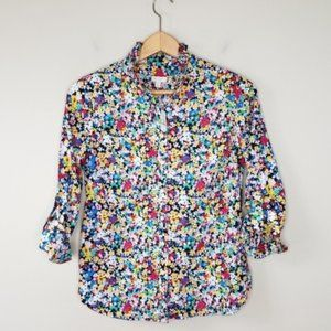 NWT Talbots   Petite Floral Button Front Shirt